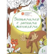 Медов ОК/Развивающие раскраски 4+. Знакомимся с лесными жителями. Рабочая тетрадь