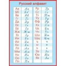 Плакат  русский алфавит прописные и печатные буквы А2