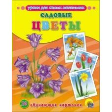 Обучающие карточки Садовые цветы 16 карточек