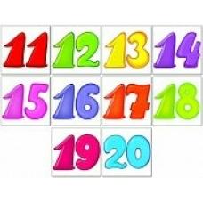 Комплект наклеек Цифры от 11 до 20