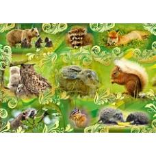 Наклейка Лесные животные