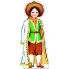 Плакат  вырубной. Мальчик в башкирском костюме.