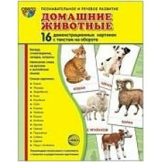 НАБОР Домашние животные 16 дем.карт.