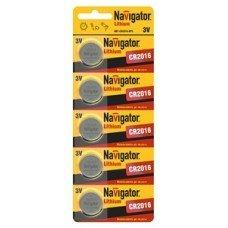 Батарейка часовая Navigator CR2016  BL5