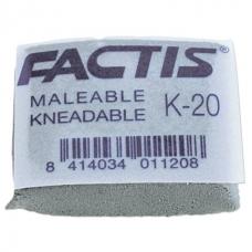 Ластик  -клячка K 20 (Испания), 37х29х10 мм, супермягкий, натуральный каучук